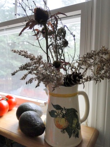 Dried flowers and weeds bouquet