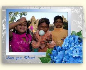 Photo card with hydrangeas