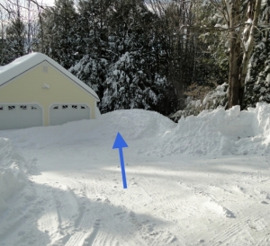 snow plowed driveway