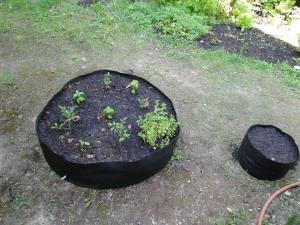 large fabric raised garden