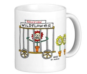 funny wildflower mug