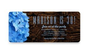blue hydrangea invitations