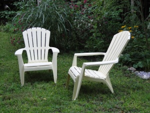 empty lawn chairs