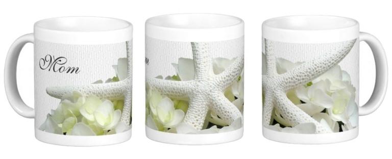 starfish hydrangea mug