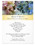 hydrangea wedding stationery