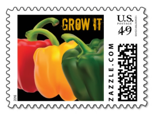 """Grow It"" Gardening Postage Stamps"
