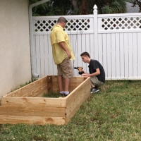 Making the Raised Garden Bed