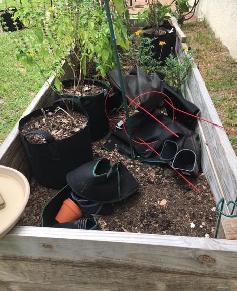 raised garden bed building the soil