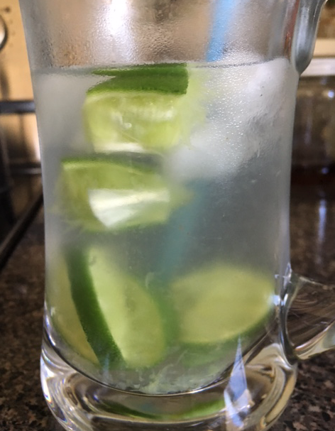 fresh limes in water