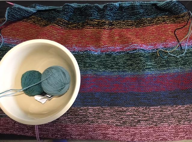 knitting a rug