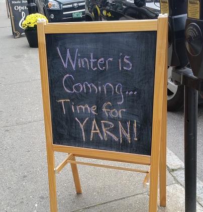 yarn sign