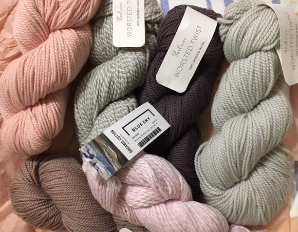 yarn hanks from Purl Soho