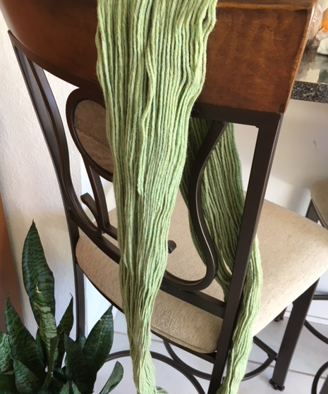 yarn on chair