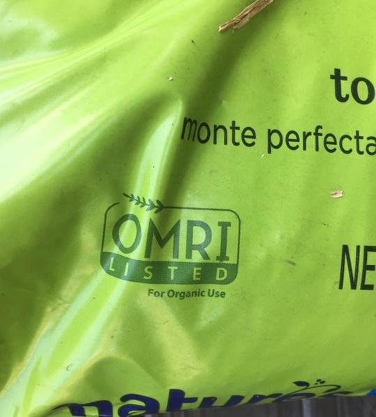 OMRI Label in lower corner