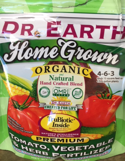 Dr. Earth organic fertilizer
