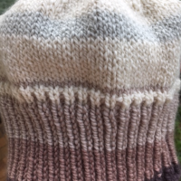 Dusty Rose Long Rib Knit Hat