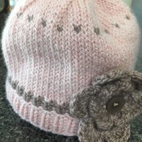 Little Pink Baby Hat Knit in a Day