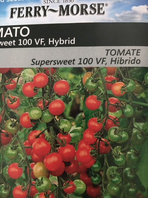 hybrid cherry tomato seeds packet