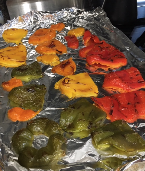 broiled bell peppers