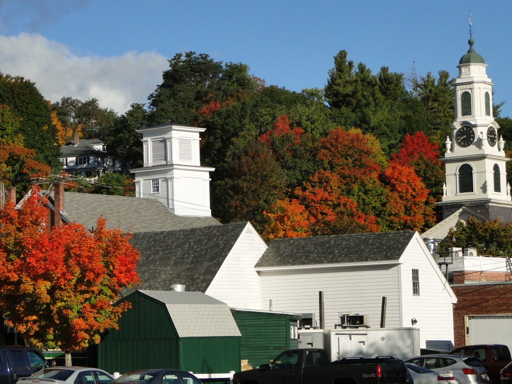 Peterborough New Hampshire at the peak of Autumn