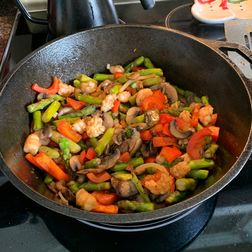 stir fry in cast iron