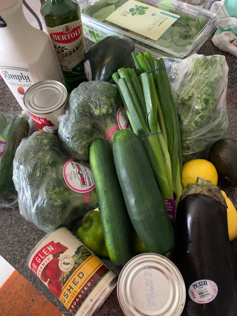 Keto shopping trip with low carb groceries